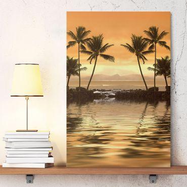 Leinwandbild - Caribbean Sunset I - Hoch 2:3