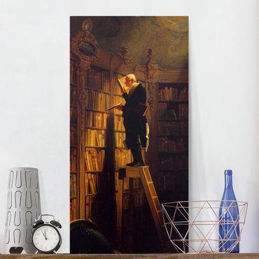 Leinwandbild - Carl Spitzweg - Der Bücherwurm - Hoch 1:2