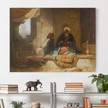 Leinwandbild - Carl Spitzweg - Zwei Türken im Kaffeehaus - Quer 4:3
