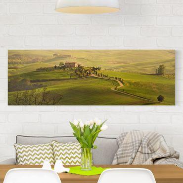 Leinwandbild - Chianti Toskana - Panorama Quer