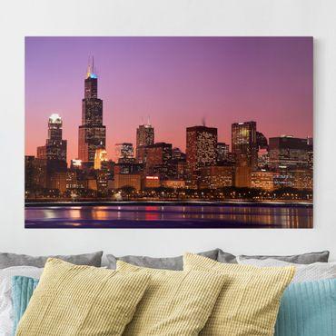 Leinwandbild - Chicago Skyline - Quer 3:2