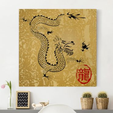 Leinwandbild - Chinese Dragon - Quadrat 1:1