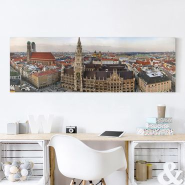 Leinwandbild - City of Munich - Panorama Quer
