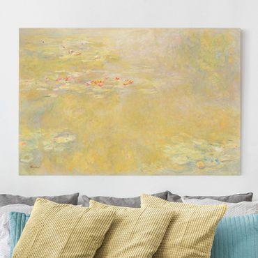 Leinwanddruck Claude Monet - Gemälde Der Seerosenteich - Kunstdruck Quer 3:2 - Impressionismus