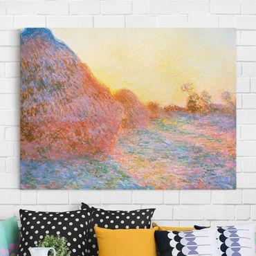 Leinwanddruck Claude Monet - Gemälde Strohschober im Sonnenlicht - Kunstdruck Quer 4:3 - Impressionismus