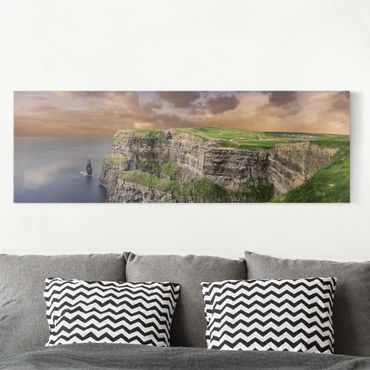 Leinwandbild - Cliffs Of Moher - Panorama Quer
