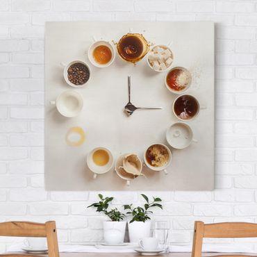 Leinwandbild - Coffee Time - Quadrat 1:1