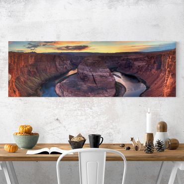 Leinwandbild - Colorado River Glen Canyon - Panorama Quer