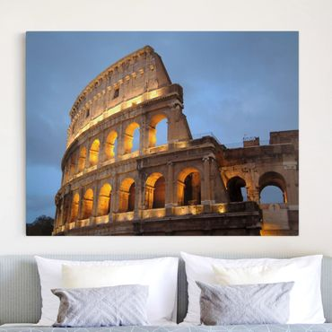 Leinwandbild - Colosseum at Night - Quer 4:3