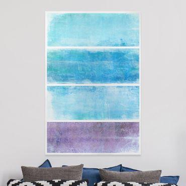 Leinwandbild - Colour Harmony Blue - Hoch 2:3