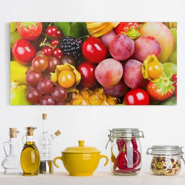 Leinwandbild - Colourful Exotic Fruits - Quer 2:1