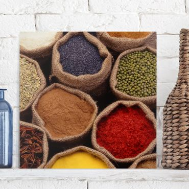 Leinwandbild - Colourful Spices - Quadrat 1:1