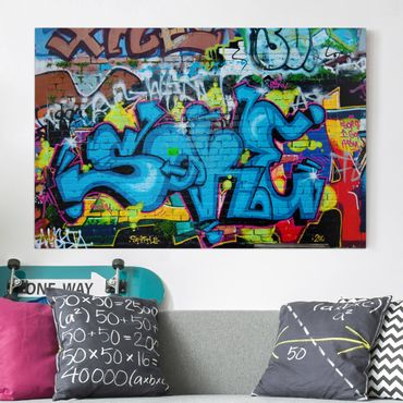 Leinwandbild - Colours of Graffiti - Quer 3:2
