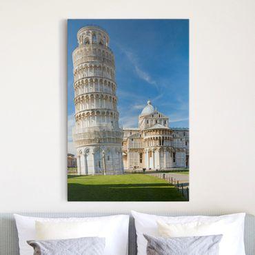 Leinwandbild - Der schiefe Turm von Pisa - Hoch 2:3