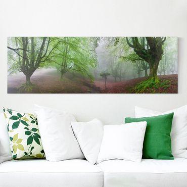 Leinwandbild - Der Wald Marvillador - Panorama Quer