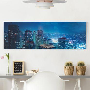 Leinwandbild - Die Atmosphäre Tokios - Panorama Quer