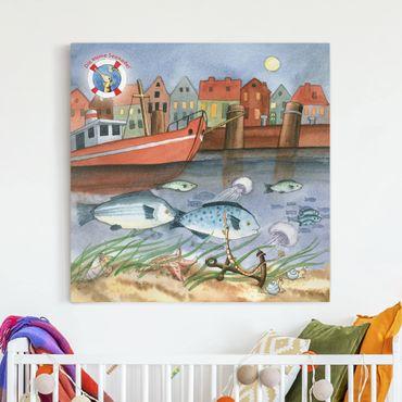 Leinwandbild - Die kleine Seenadel© Hafen - Quadrat 1:1