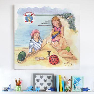 Leinwandbild - Die kleine Seenadel© Strandbesuch - Quadrat 1:1
