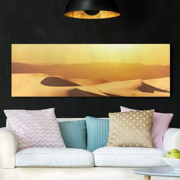 Leinwandbild - Die Wüste Saudi Arabiens - Panorama Quer