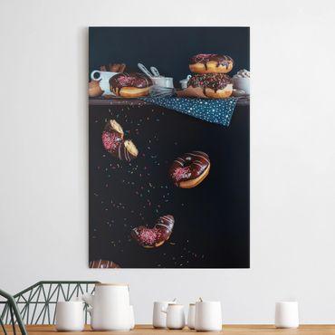 Leinwandbild - Donuts vom Küchenregal - Hoch 2:3