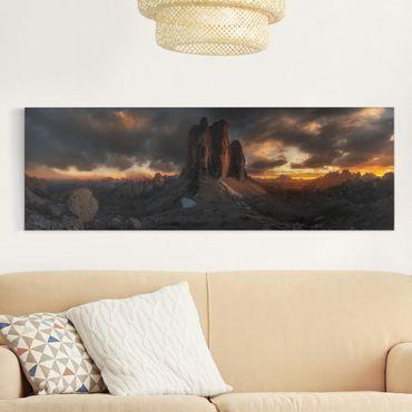 Leinwandbild - Drei Zinnen - Panorama Quer