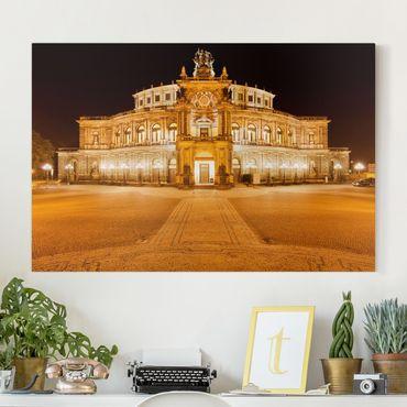 Leinwandbild - Dresdner Opernhaus - Quer 3:2