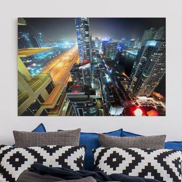 Leinwandbild - Dubai Lights - Quer 3:2