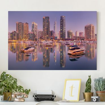 Leinwandbild - Dubai Skyline und Marina - Quer 3:2