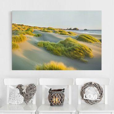 Leinwandbild - Dünen und Gräser am Meer - Quer 3:2