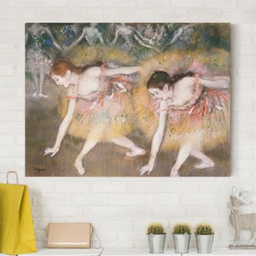 Leinwandbild - Edgar Degas - Sich verbeugende Ballerinen - Quer 4:3