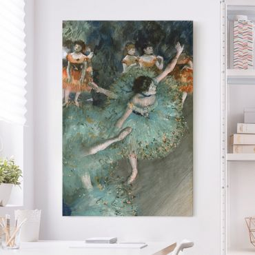 Leinwandbild - Edgar Degas - Tänzerinnen in Grün - Hoch 2:3