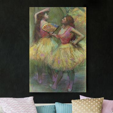 Leinwandbild - Edgar Degas - Zwei Tänzerinnen bevor sie auf die Bühne gehen - Hoch 2:3