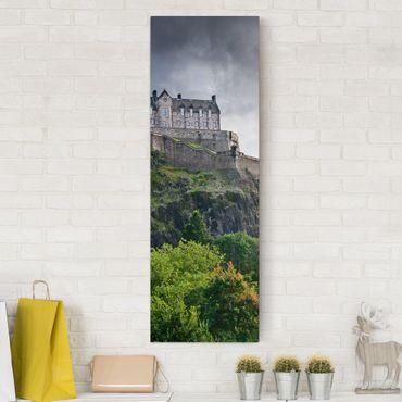 Leinwandbild - Edinburgh Castle - Panorama Hoch