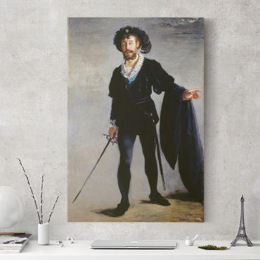 Leinwandbild - Edouard Manet - Der Sänger Jean-Baptiste Faure als Hamlet - Hoch 2:3