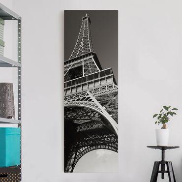 Leinwandbild - Eiffelturm - Panorama Hoch
