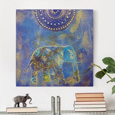 Leinwandbild - Elephant in Marrakech - Quadrat 1:1