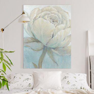 Leinwandbild - Englische Rose Pastell - Hochformat 4:3