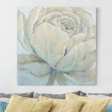 Leinwandbild - Englische Rose Pastell - Quadrat 1:1