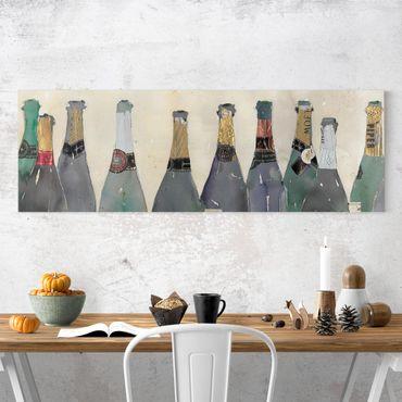 Leinwandbild - Entkorkt - Champagner - Panorama 1:3