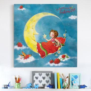 Leinwandbild - Erdbeerinchen Erdbeerfee - Träum schön - Quadrat 1:1