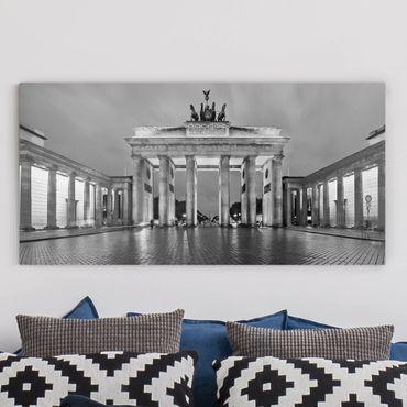 Leinwandbild - Erleuchtetes Brandenburger Tor II - Quer 2:1