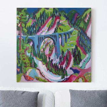 Leinwandbild - Ernst Ludwig Kirchner - Brücke bei Wiesen - Quadrat 1:1