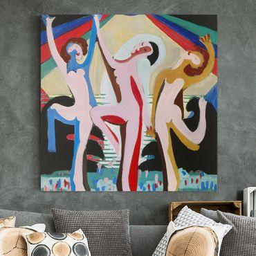Leinwandbild - Ernst Ludwig Kirchner - Farbentanz - Quadrat 1:1