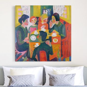 Leinwandbild - Ernst Ludwig Kirchner - Kaffeetisch - Quadrat 1:1