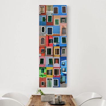 Leinwandbild - Fenster der Welt - Panorama Hoch