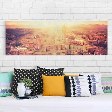Leinwandbild - Fiery Siena - Panorama Quer