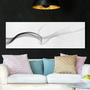 Leinwandbild Schwarz-Weiß - Floater - Panoramabild Quer