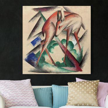 Leinwandbild - Franz Marc - Reh - Quadrat 1:1