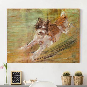 Leinwandbild - Franz Marc - Springender Hund Schlick - Quer 4:3