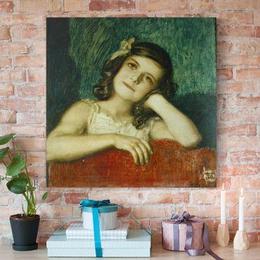 Leinwandbild - Franz von Stuck - Mary, die Tochter des Künstlers - Quadrat 1:1